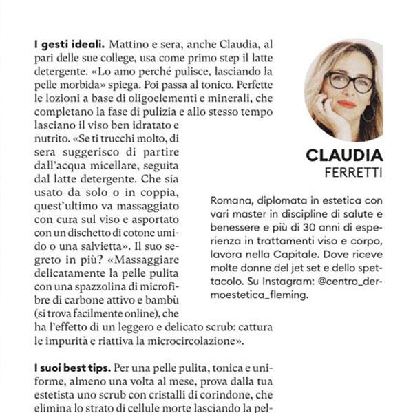 Claudia Ferretti su Donna Moderna Claudia Ferretti