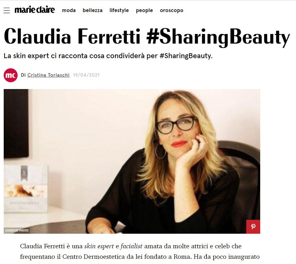 Claudia Ferretti Marie Claire